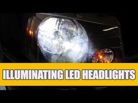 How To Install The H13 9008 LED Headlight Bulbs For Replacing 2004 - 2013 Ford F150 Halogen Headlamp