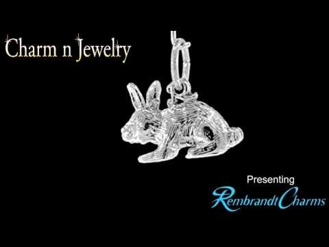 Bunny Rabbit Sterling Silver Charm Style 2264