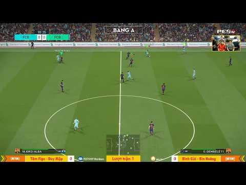 PES League 2v2 | [MYM] Tâm Figo + Duy Mập vs [MYM] Bình Củi + Hoàng Bin 23-12-2017