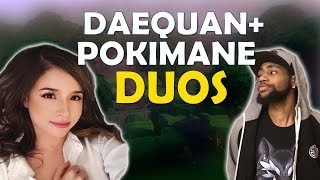 POKIMANE DUOS WITH DAEQUAN   FUN KILLS   TIPS TO GETTING BETTER - (Fortnite Battle Royale)