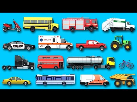 Learning Street Vehicles Names And Sounds For Kids With Surprise Eggs Cars And Trucks