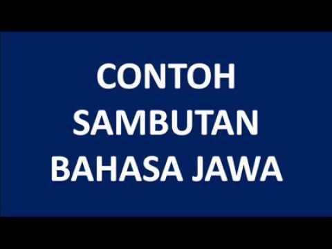 Contoh Sambutan Acara Dengan Bahasa Jawa