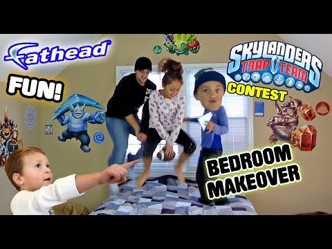 Mike's Bedroom Upgrade! Skylanders Trap Team Fathead Wall Decals! w/ Contest & Timelapse (REAL BIG) (видео)