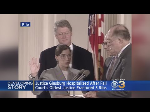 Supreme Court Justice Ruth Bader Ginsburg Hospitalized After Breaking Ribs In Fall