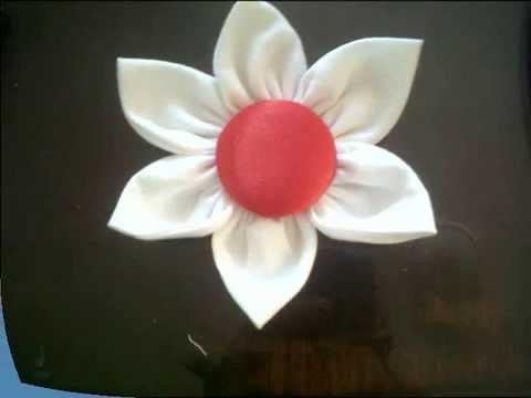 TUTORIAL: como hacer una flor en tela..