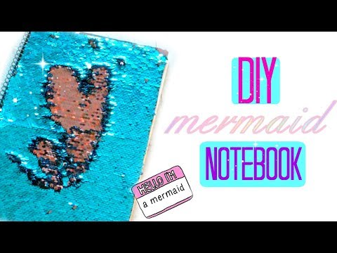 DIY Mermaid Notebook  - Colour Changing Sequins