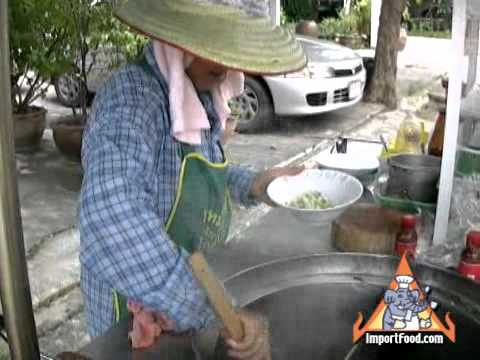 Thai Street Vendor Pok Pok Noodles