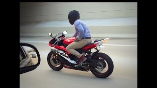 4. 2014 Yamaha R6 fly by and wheelies