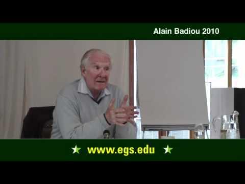Alain Badiou. Was ist Philosophie? (Teil II). 2010.