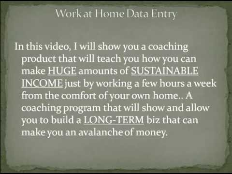 Work at Home Data Entry   Work at Home Data Entry Advice