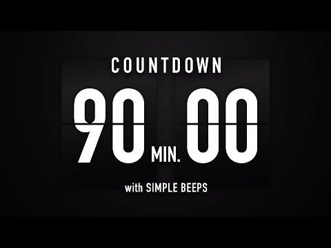 90 minutes -  1 hour 30 minutes - Countdown Timer Flip clock