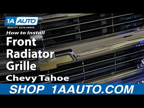 How To Install Replace Front Radiator Grille 1996-99 Chevy Tahoe C1500 K1500
