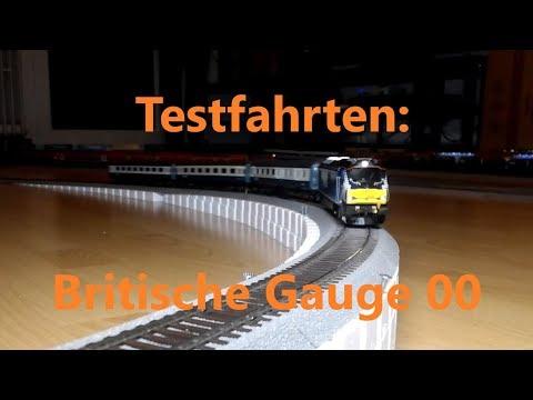 (M)Eine Teppichbahn 13.2 - Testfahrten britischer Gauge 00 Modelle