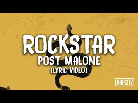 Post Malone - Rockstar Ft. 21 Savage (lyric Video)