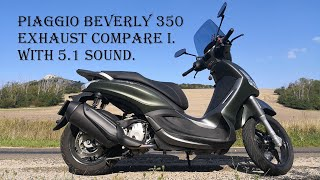 9. Piaggio Beverly/BV 350 exhaust compare I.