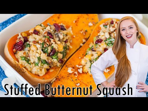Stuffed Butternut Squash With Holland House White Wine Mushroom Risotto
