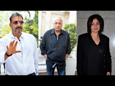 Sanjay Dutt | Mahesh Bhatt | Pooja Bhatt | Spotted At Vikram Bhatt Office