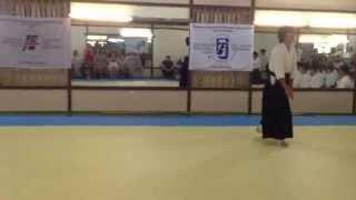 Техники айкидо демонстрируют студенты университетов Японии
