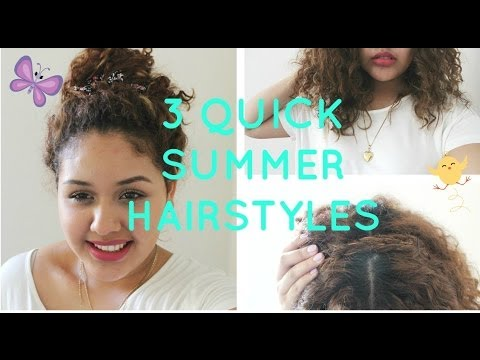 ☼ 3 Quick Curly Hairstyles For Summer ☼ l Dania Michelle