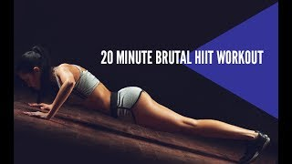 The best strength and cardio workout can be found on our 90 day fitness and nutrition program http://athleanx.com/x/best-strength-and-cardioThis brutal HIIT workout is a 20 minute cardio workout that you can do at home.  It's an advanced HIIT workout, and is particularly challenging. If you have no experience with HIIT or high intensity interval training, you might want to try one of our beginner bodyweight hiit workouts first.  This insane HIIT workout is a 20 minute brutal HIIT workout that will leave you breathless and drenched in sweat.There are three parts to this 20 minute HIIT workout.  For each of the three parts in this insane HIIT workout you'll do 7 reps of each exercise repeating them until you hit 7 minutes. Once the 7 minutes are up, you'll move to the next part of this advanced HIIT routine.  You can take a small amount of rest between the sets to allow your heartrate to recover a little.  When you are done you'll have done more than 20 min HIIT.  If you are looking for a full length home cardio workout with strength incorporated, check out our complete Athlean-XX for Women program https://athleanx.com/best-workout-program-for-women/getleanHere are the parts and exercises that make up this 20 minute HIIT workout:1st Set - 7 of each for 7 minutes (set a timer)1) Pushups2) Squats3) Burpees2nd Set - 7 of each for 7 minutes (set a timer)4) Jump Squats5) Curls6) Burpees w/a Jump Tuck3rd Set - 7 of each for 7 minutes (set a timer)7) Scorpion Pushups8) Squat Jacks9) 2 Jump Tuck BurpeesFor the best HIIT workouts and much more, subscribe to our Youtube channel https://www.youtube.com/user/womensworkouts