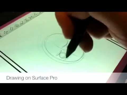 Watch: Drawing on a Microsoft Surface with Windows 8 Pro