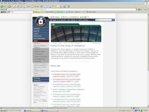 CIA Factbook - CIA World factbook tutorial using camstudio.