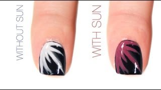 New Year's Eve Color-Changing Nail Art Design