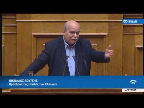 Ομιλία του Προέδρου της Βουλής κ. Ν.Βούτση (Προϋπ.και Απολογ. Βουλής)(17/11/2017)