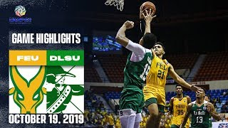 FEU vs. DLSU - October 19, 2019  | Game Highlights | UAAP 82 MB