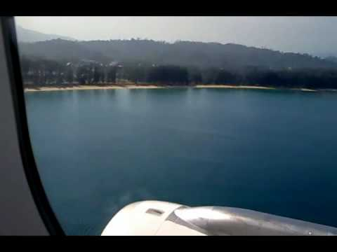 Phuket Airport Landing – Scary ocean and beach landing
