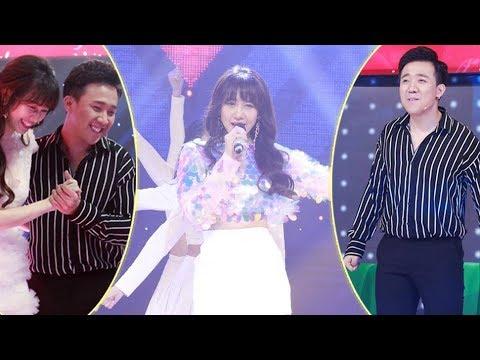 """Trấn Thành """"cười tít mắt"""" khi xem Hari Won hát các ca khúc HIT đình đám một thời - Thời lượng: 15:15."""