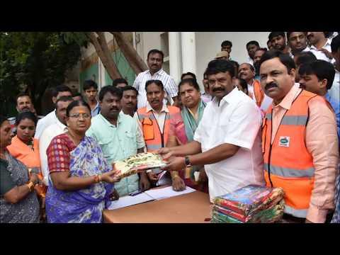 , Telangana Govt. Distributed Sarees To Women