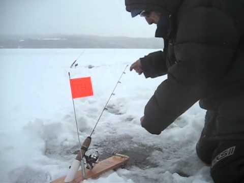 Pêche blanche à la ouananiche sur le Memphrémagog