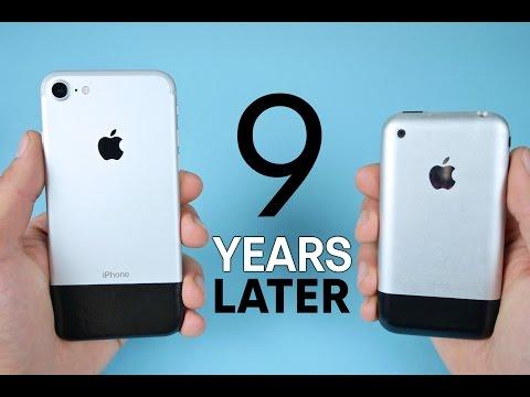iPhone 7 vs Original iPhone 2G! 9 Year Comparison (видео)