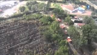 Saint-Jean-d'Illac France  City new picture : Survol aérien de la zone sinistrée par l'incendie de Saint-Jean d'Illac