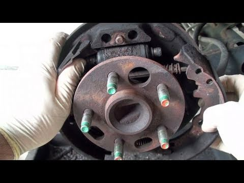 change brakes - How To Replace Drum Brake Shoes (Full) - EricTheCarGuy http://www.ericthecarguy.com/ Here is a full length version of a video that I posted some time ago, th...