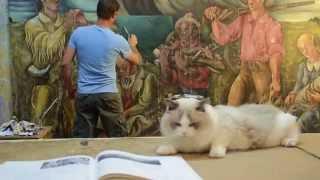 VIDEO: Art Restoration - 1942 Post Office Mural