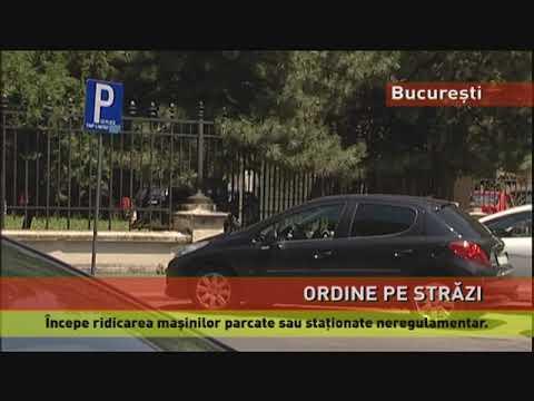 Mașinile parcate neregulamentar pe străzile din București vor fi ridicate
