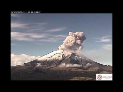 Explosiones del volc�n Popocatepetl - 28 de junio de 2016