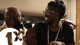 Beenie Man, Lt Stitchie & Josey Wales at King Jammy's studio Jamaica