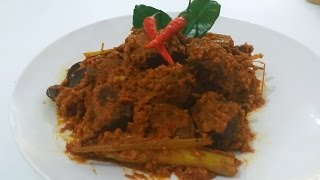 How To Make Beef Rendang (Recipe),ビーフルンダンの作り方(レシピ), Cara Memasak Rendang Daging (Resep)