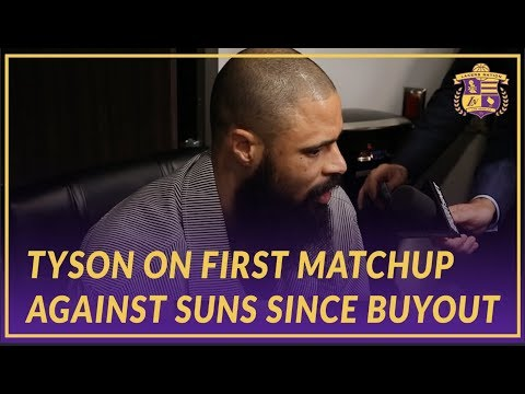 Video: Lakers Post Game: Tyson On Filling in For JaVale After He Fouled Out Early & Suns Matchup