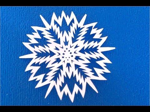 Снежинки из бумаги своими руками мастер класс