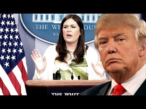 GRILLED: Sarah Sanders Press Briefing on Donald Trump Bans Transgender Serving US Military 2017 LGBT