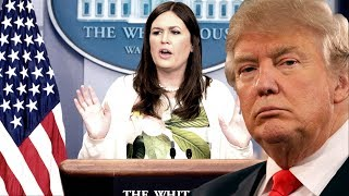 LIVE: Sarah Sanders Press Briefing on Donald Trump Bans Transgender Serving US Military 7/26/17 LGBT Russia and Jeff...