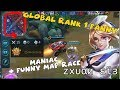 GLOBAL RANK 1 FANNY | QUADRAKILL | FUNNY MAP RACE AGAINST JOHNSON | ᴢxυαи εϊɜ GLORIOUS LEGEND RANKED