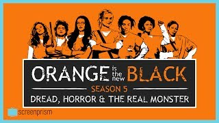 """Now that you've finished Orange is the New Black Season 5, dig into our OITNB analysis on the structure of dread and anxiety, the horror movie tone, and who the """"real monster"""" is. Sign up to our email newsletter for updates on new videos, fun film trivia, news on giveaways, longform content, events and more! http://bit.ly/2oVVB1QIf you like this video, subscribe to our YouTube channel for more: http://www.youtube.com/c/ScreenprismLike ScreenPrism on Facebook: http://www.facebook.com/screenprismFollow ScreenPrism on Twitter: http://twitter.com/screenprismVisit ScreenPrism.com: http://screenprism.com/"""
