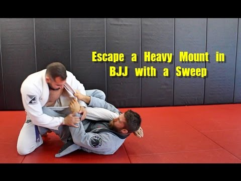 Escape a Heavy Mount in BJJ with a Sweep ( Single X Sweep ) (видео)