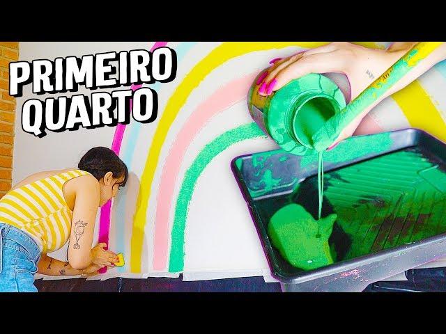 DIÁRIO DA REFORMA#3 - FAZENDO UMA PAREDE ARCO ÍRIS - Taciele Alcolea