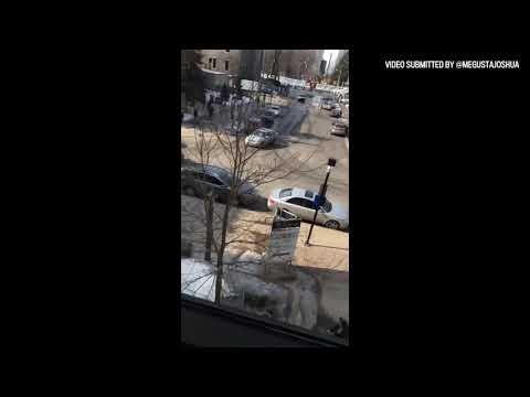 RAW VIDEO: Witnesses film vehicle driving erratically on uOttawa campus